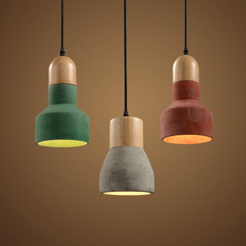 Creative diy concrete pendant light fixture aloadofball Gallery