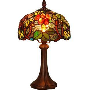 8in circular tiffany table lamps