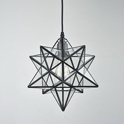 Moravian Star Glass Pendant Chandelier light