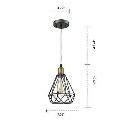 Polygon Loft Art Deco Vintage Wire Pendant Kitchen light