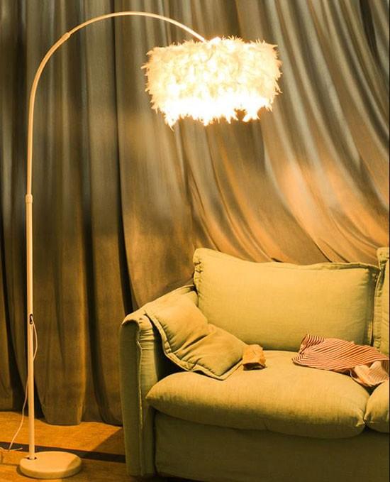 iron+cloth Bedroom led designer floor lamp