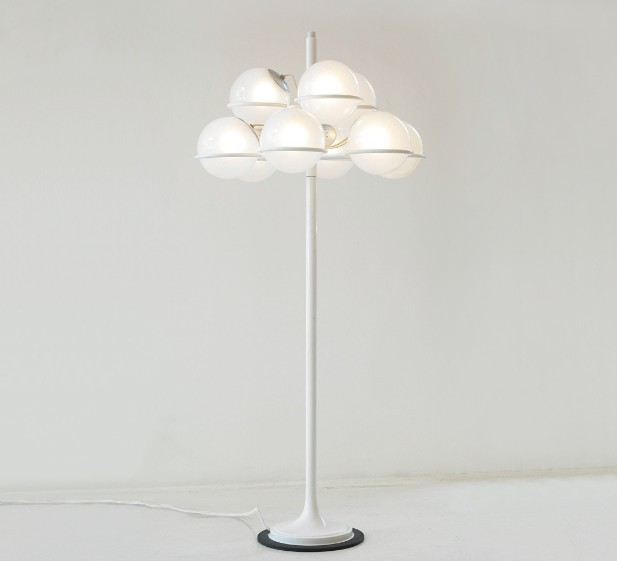 Italian unique fortuny floor standing lamp