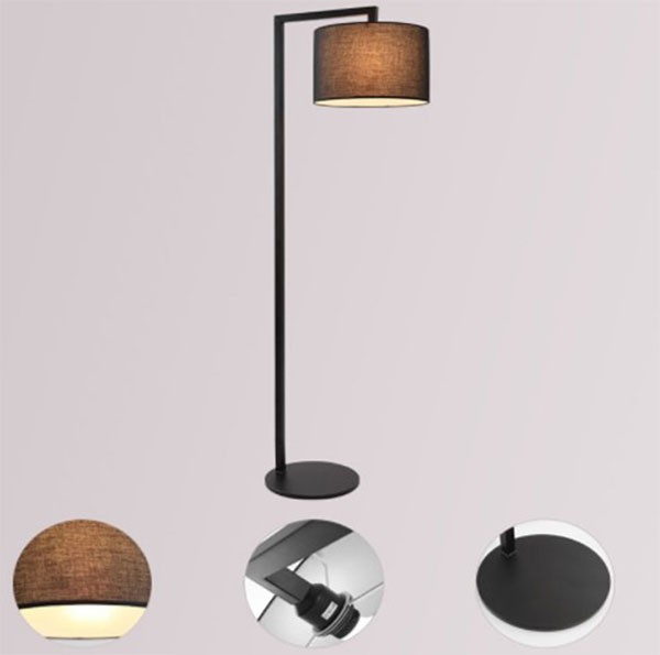 iron fashion simple bedroom floor lamp