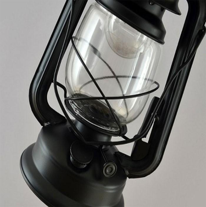 vintage European kerosene Iron floor lamp